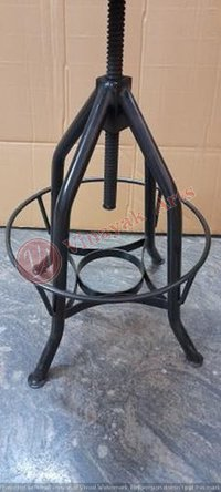 Iron and Wooden Bar Chair