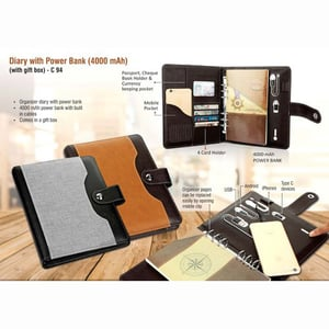 Diary With Power Bank