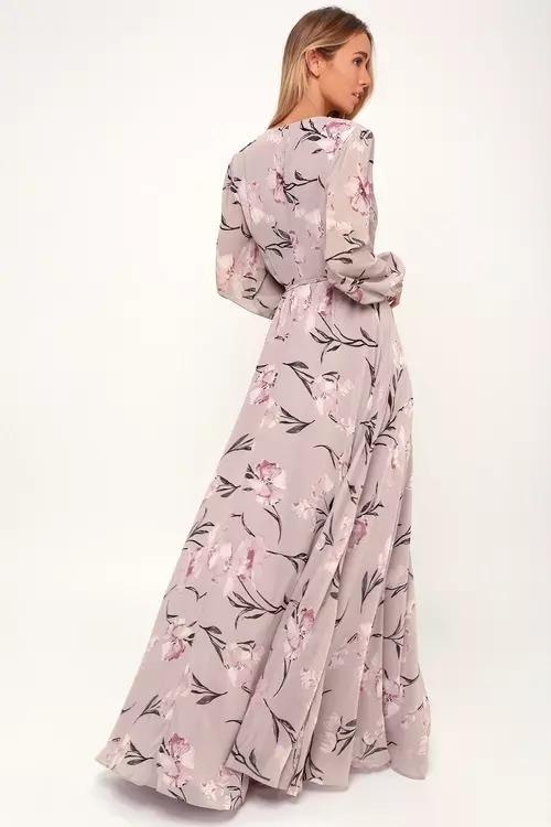Flower Printed A line dress for girl