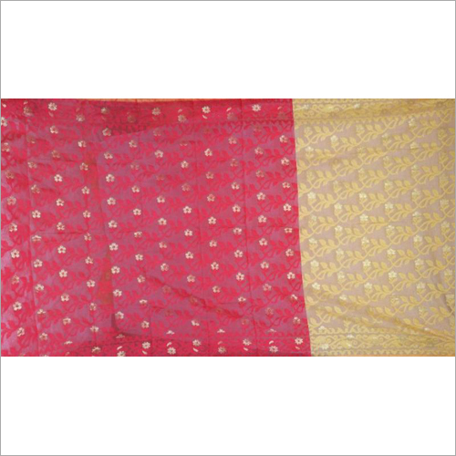 Ladies Half Half Silk Jamdani Saree