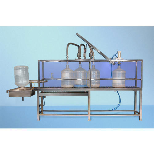 Semi Jar Rinsing Filling Capping Machine