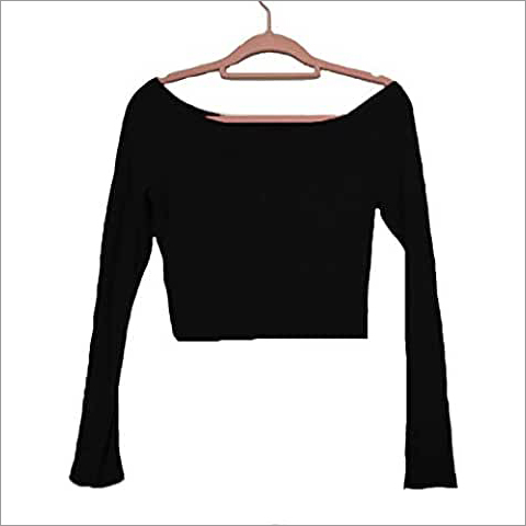 Full Sleeve Crop Top T-Shirt