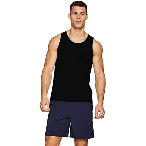 Men's Sleeveless Black Gym Tank Gym Stringer Tank Tops