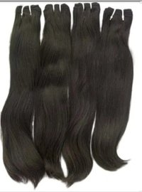 Black Machine Weft Hair