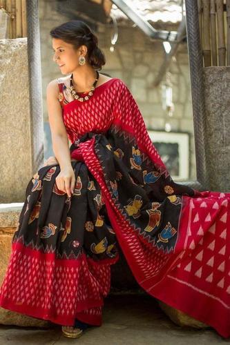 Pure Printed Cotton Mulmul Saree
