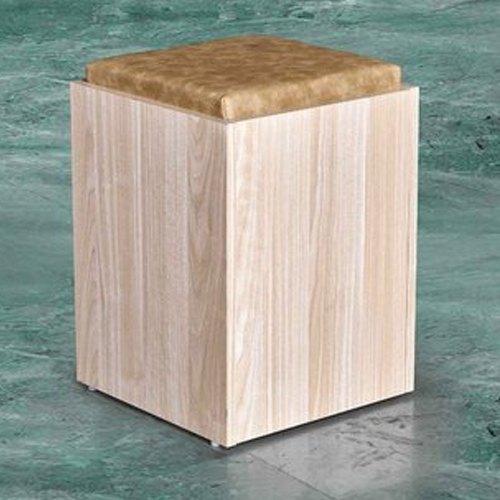wooden pouffe