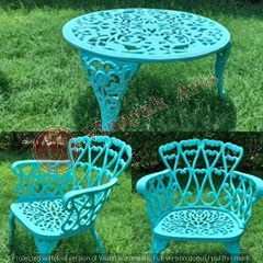 Cast Iron Chair and Table