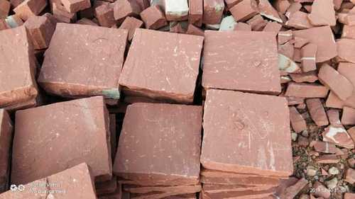 Red sandstone cobble