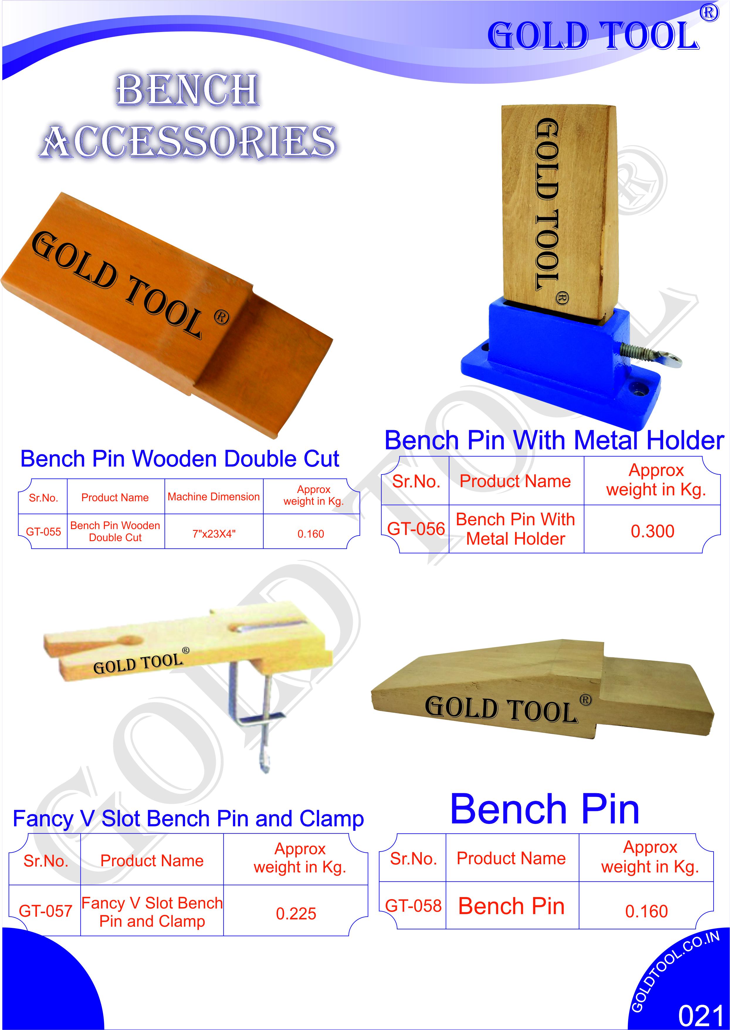 Gold Tool Bench Pin