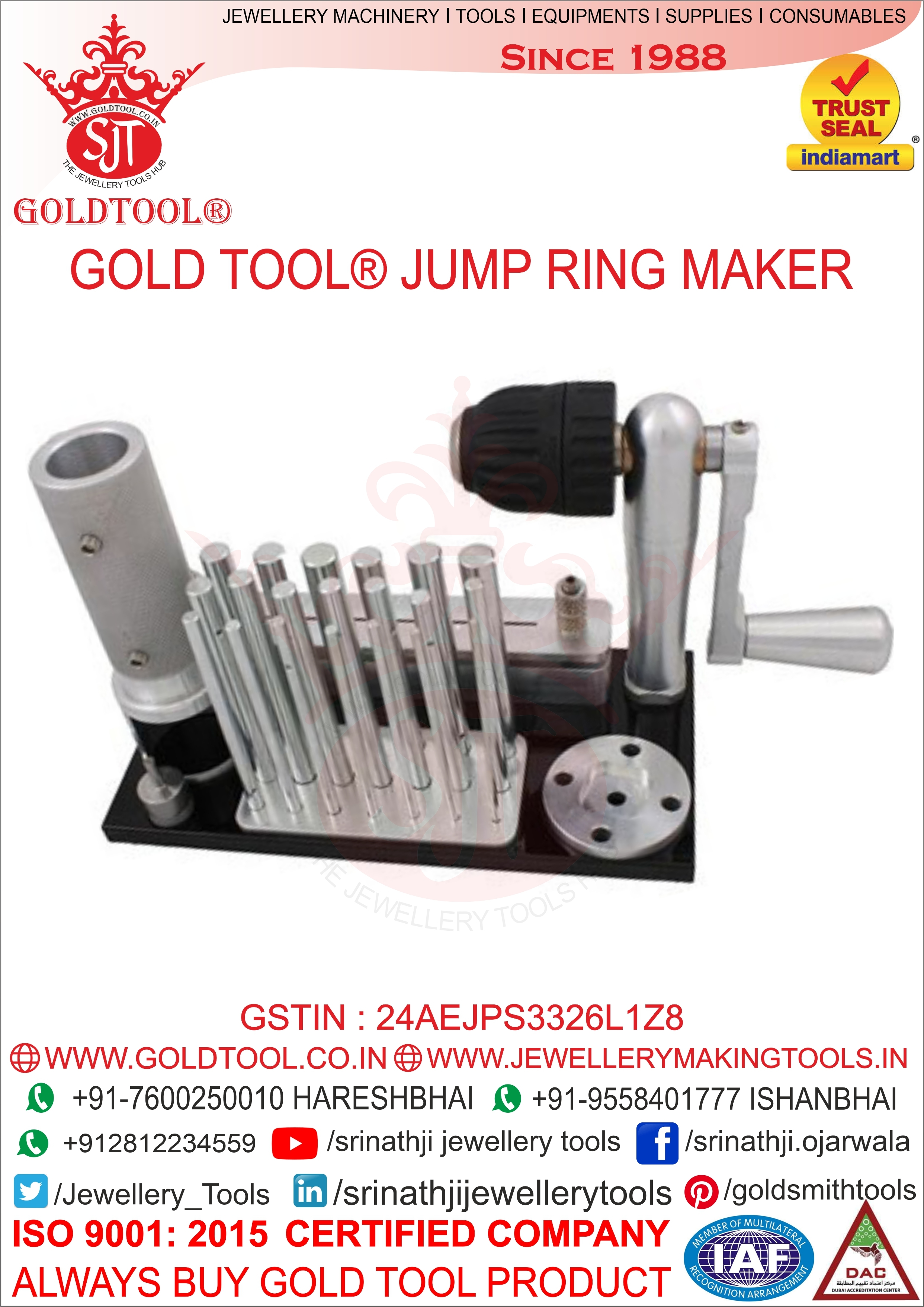 Gold Tool Jump Ring Maker