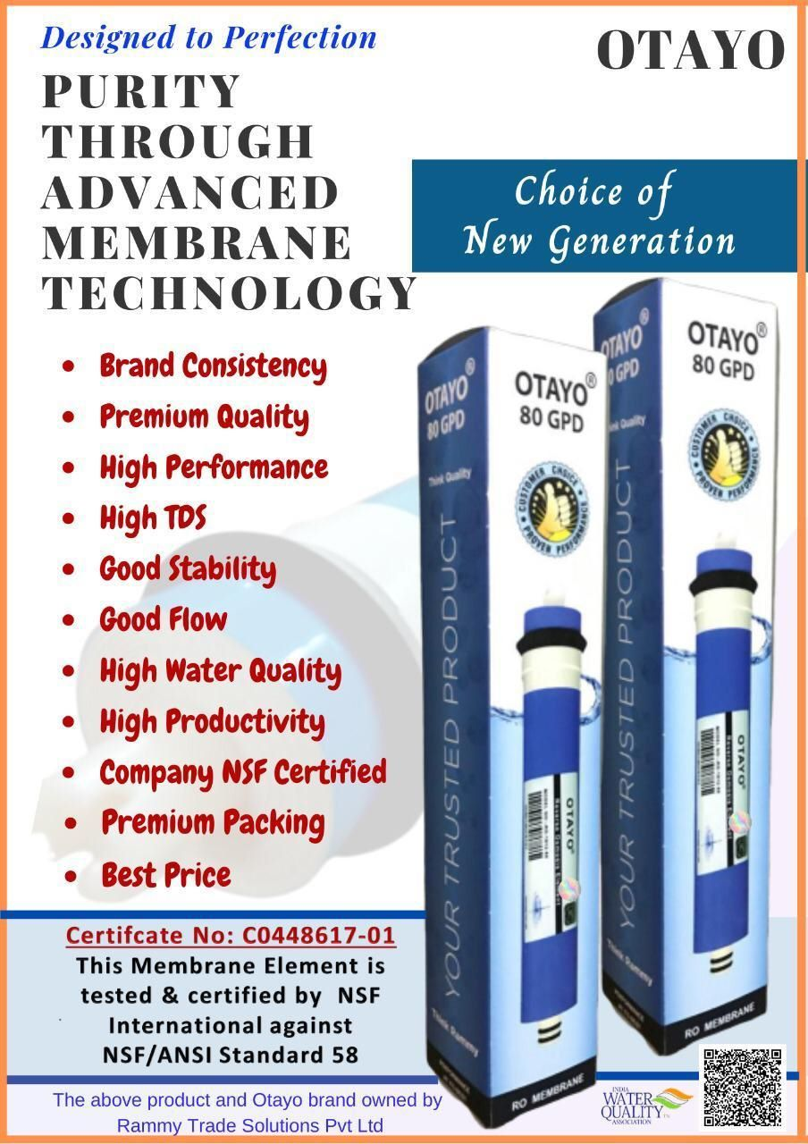 OTAYO 80 GPD HIGH TDS MEMBRANE (UPTO 3000 PPM)