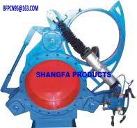 Electro-hydraulic fan blind plate valve