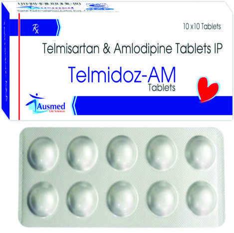 Telmisartan I.p. 40 Mg. + Amlodipine Besylate Equivalent To Amlodipine  5 Mg./telmidoz-am