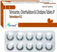 Telmisartan IP  40 mg. +  Chlorthalidone IP 12.5mg. + Cilnidipine IP 10mg./TELMIDOZ-CC