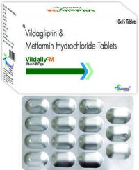 Vildagliptin  50mg + Metformin Hci  Ip  500mg / Vildaily-m