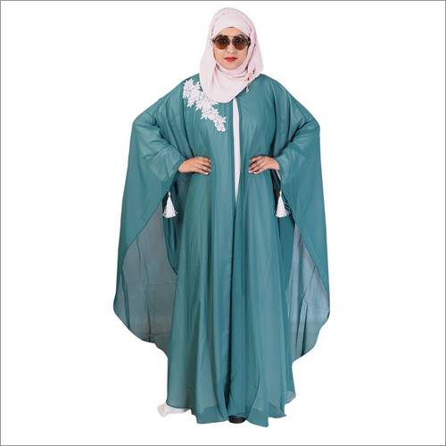 Green & White Ladies Kaftan