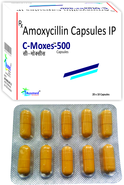 Amoxycillin Trihydrate IP  250 mg./C-MOXES-250