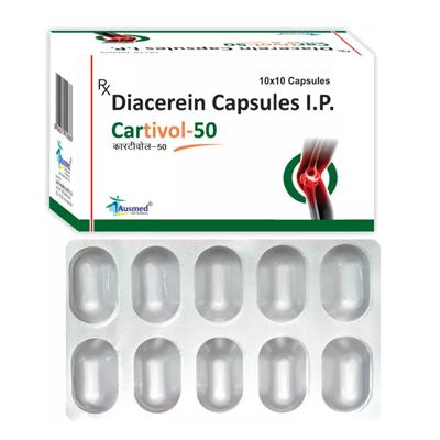Diacerein IP 50mg/CARTIVOL-50
