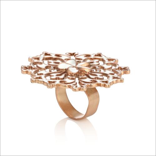 Brass Enamel Adjustable Ring