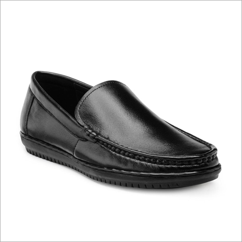 Mens Leather Black Loafer Shoes