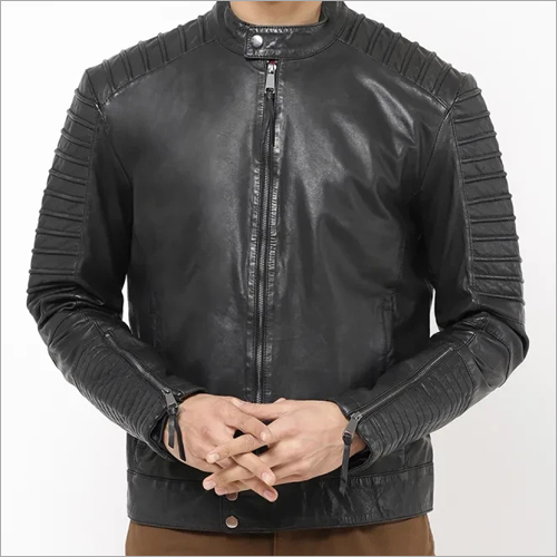 Mens Full Sleeve Leather Jacket