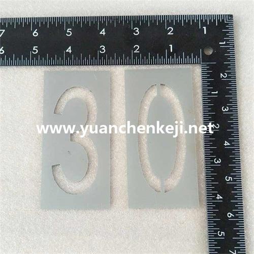 Laser Cutting of Aluminum Sheet For Alphanumeric Template