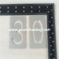 Laser Cutting of Aluminum Sheet For Alphanumeric Template