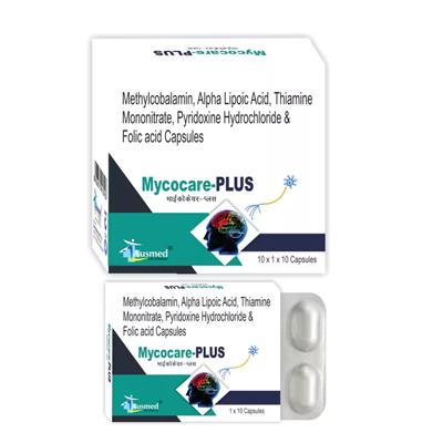 Methycobalamin  1500 mcg. + Alpha Lipoic Acid 100 mg. + Thiamine Monohydrate 10 mg.+ Pyridoxine HCI 3 mg.+ Folic Acid 1.5 mg./MYCOCARE-PLUS