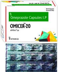 Omeprazole- IP 20mg./OMICER-20