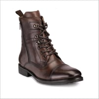 Mens Lace Up  Long Boots