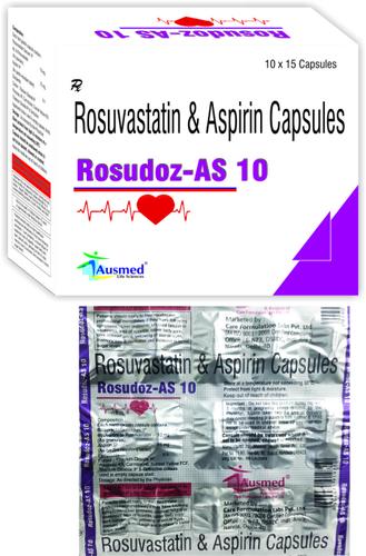 Rosuvastatin Calcium  IP eq. to Rosuvastatin   10mg. + (As granules) Aspirin  IP  75mg./ROSUDOZ-AS 10