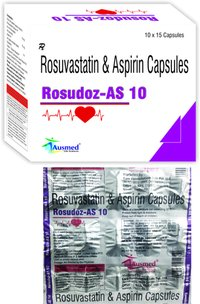 Rosuvastatin Calcium  IP eq. to Rosuvastatin   10mg. + (As granules) Aspirin  IP  75mg./ROSUDOZ-AS 10