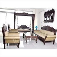 Designer Wooden Sofa Set Including Swing