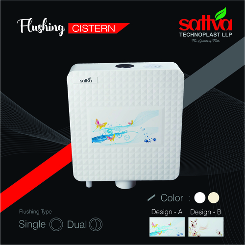 Diamond Slim Singal Flushing Cistern