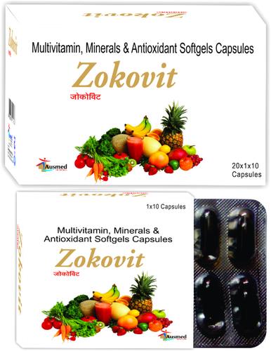 Multivitamin, Multimineral & Antioxidant softgel capsules/ZOKOVIT