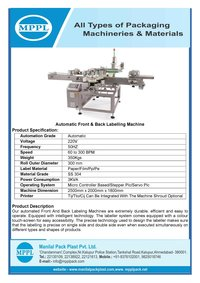 Automatic Front & Back Labelling Machine