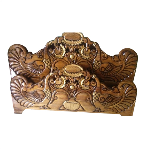Wooden Carving Bed Headboard