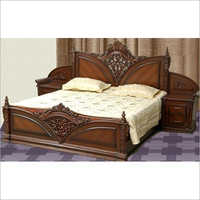 Wooden Carving Double Bed