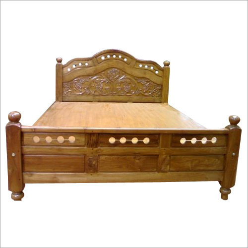 Wooden Double Cot Bed