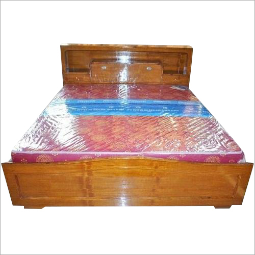 Teak Plywood Head Box Wooden Bed