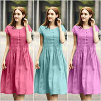 Frock Style Cotton Dress