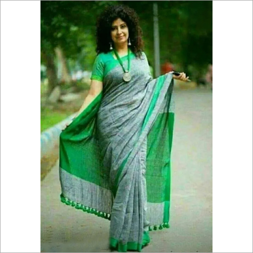 Stylish Khadi Cotton Saree