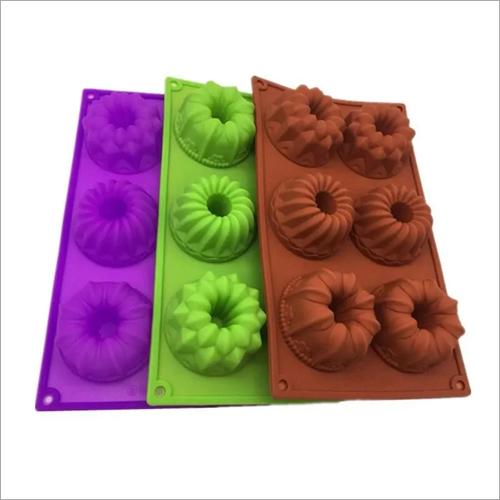 6PC Silicon Cake Mould
