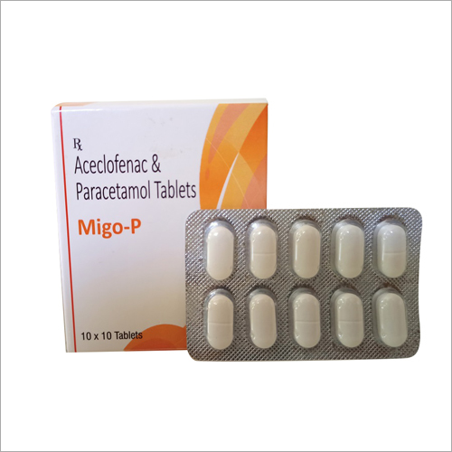 Aceclofenac with Paracetamol Tablets