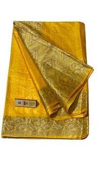 Pure Tussar Silk Plain Sarees , Weaved Pallu .