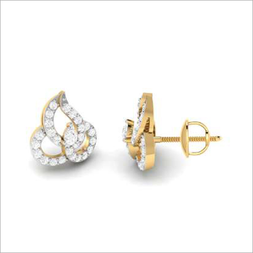 Gold Stud Earings