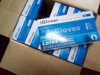 Disposable Blue Long Nitrile Examination Gloves