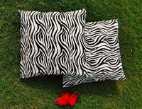 Kirti Finishing  White Tiger Print Cotton Cushion Cover 16 inches Set of 5