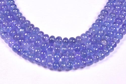 Tanzanite Plain Round Beads