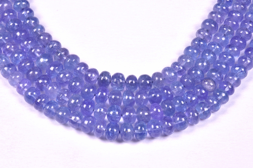 Tanzanite Plain Round Beads